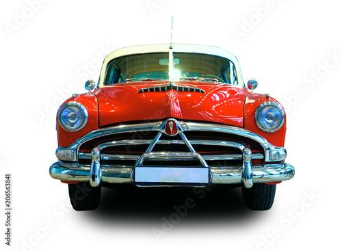 Poster Vintage voitures Oldtimer Car. White background.