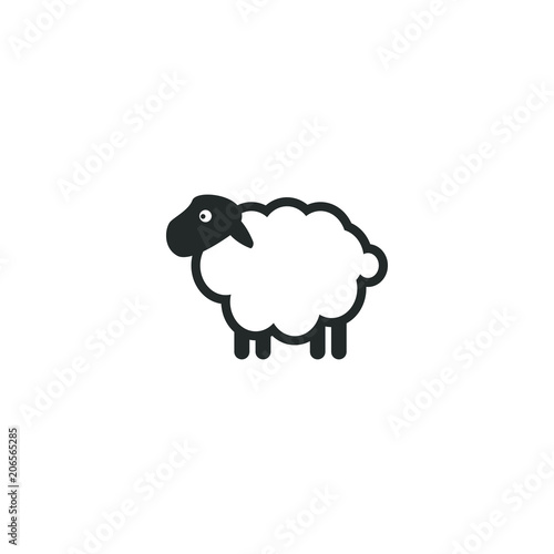 Fotografia Sheep logo icon template