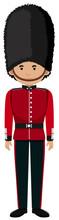 Royal British Soldier Uniform On White Background