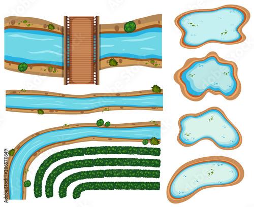 Fototapeta An Image Showing Aerial Rivers obraz