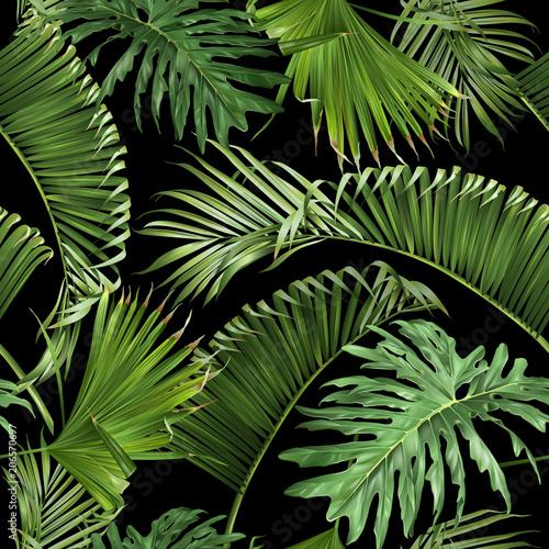 tropikalne-liscie-na-czarna-sciane