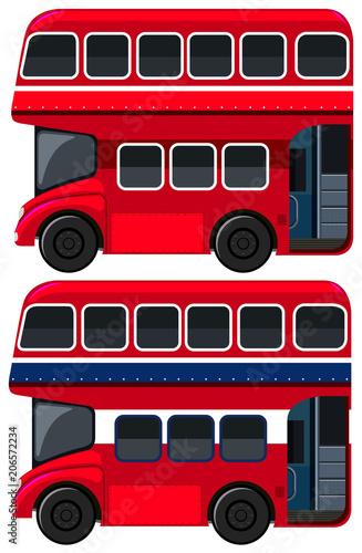 Fotografie, Tablou  Double-decker Bus  on White Background