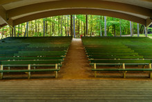 Empty Benches And An Empty Sta...