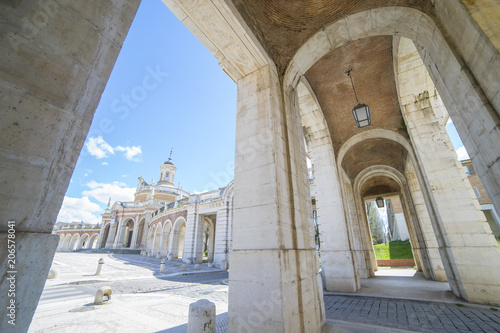 Canvas Prints Morocco Passage Old arcs, architecture. A sight of the palace of Aranjuez (a museum nowadays), monument of the 18th century, royal residence Spain.