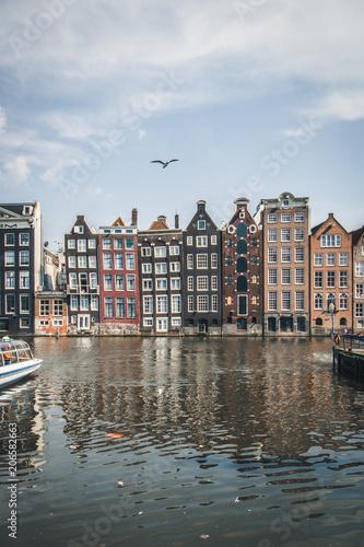 Photo  perfect moment, amsterdam gracht netherlands