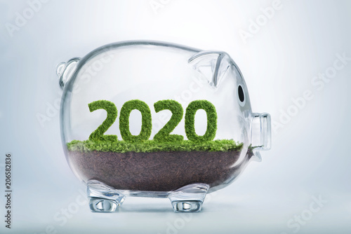 Poster  2020 prosperity year concept