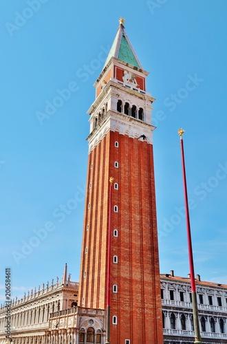 Venedig, Campanile, San Marco Canvas Print