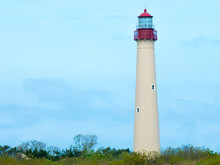 The Cape May Beach Lighthouse,...