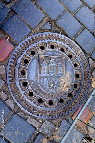 Prague Manhole Poster