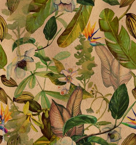 tropikalny-wzor-z-kwiatem-strelicji-utrzymany-w-stylu-retro