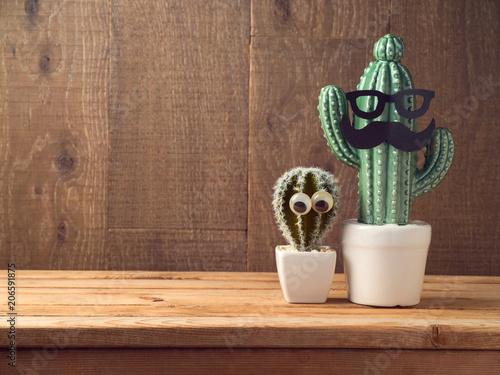 Papiers peints Cactus Happy Fathers day concept