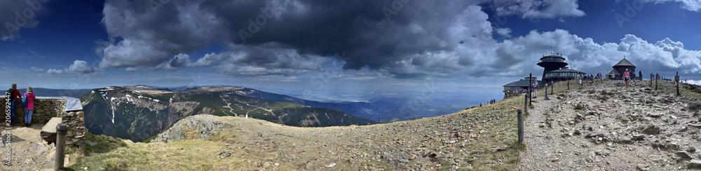 Fototapety, obrazy: Panorama ze Śnieżki - Karkonosze