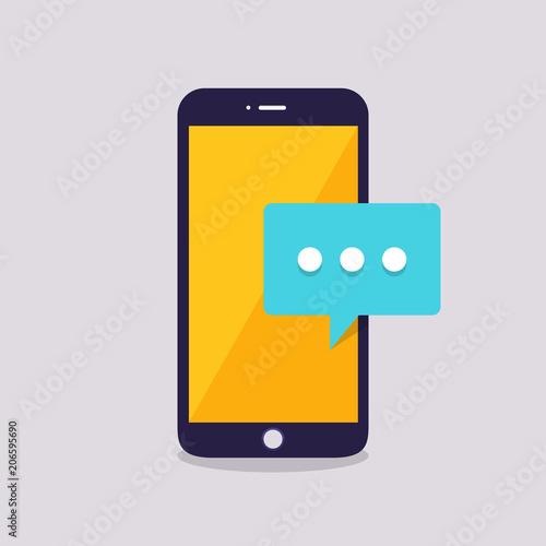 Fotografie, Tablou  Flat design concept message and chat