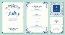 Ornate Wedding Invitation, Tab...