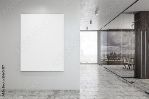 Fotografie, Obraz  Modern glass corridor with banner