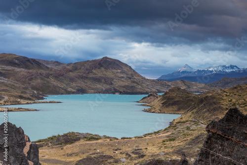 Staande foto Oceanië Turquoise waters of Lake Pehoe