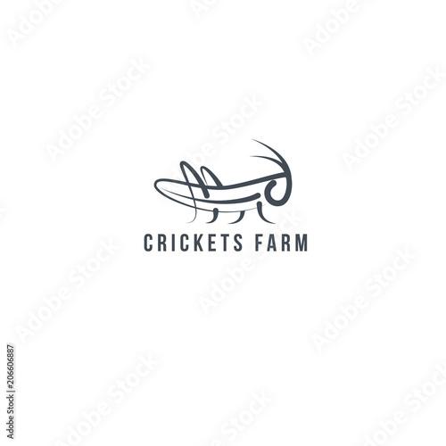 Tablou Canvas Logo Grasshopper, cricket insect logo