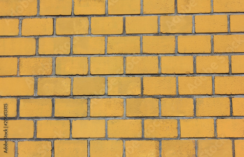 Yellow Brick Wall Texture Background Brickwork Pattern Of