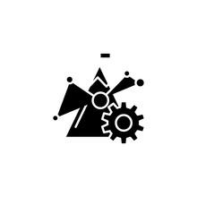 Benchmark Figures Black Icon Concept. Benchmark Figures Flat  Vector Symbol, Sign, Illustration.