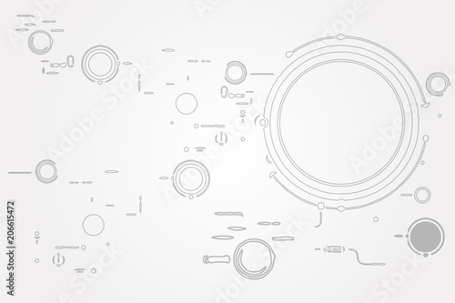 Modern Technology Electric Digital Abstract Background
