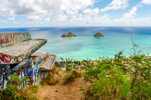 World War II Pillbox On The Island Of Oahu