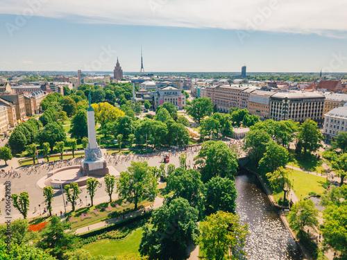 Zdjęcie XXL Statua Wolności lub Milda na Łotwie, Ryga