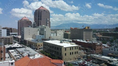 Albuquerque desert city skyline Canvas Print