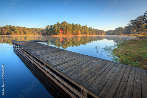 Poster Texas Fishing Dock on Perfectly Still Lake
