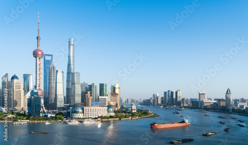 Foto op Aluminium Shanghai beautiful shanghai cityscape in afternoon