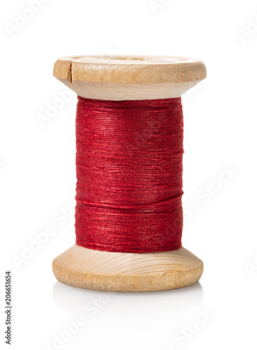 spool of red thread Canvas Print
