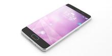 Smartphone With Purple Screen ...