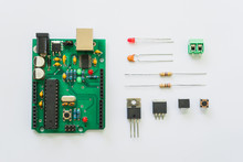 Top View Of Electronics Compon...
