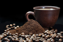Coffee Beans And Instant Coffe...