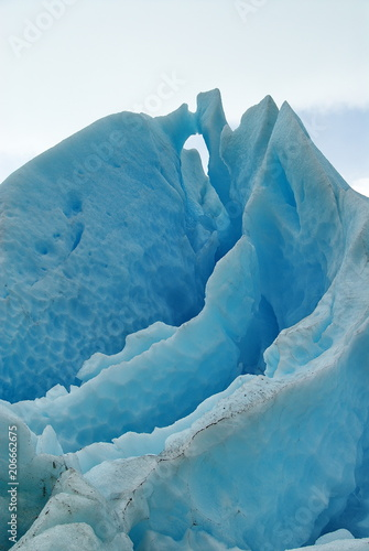 Poster Glaciers Norway. Fragment of the glacier Svartisen