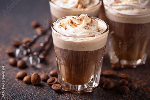 Slika na platnu Coffee latte with whipped cream
