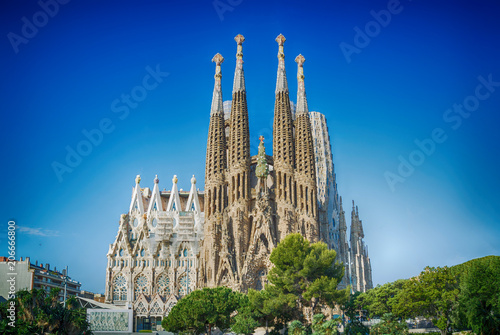 Photo Stands Barcelona Sagrada Familia in Barcelona, Spain