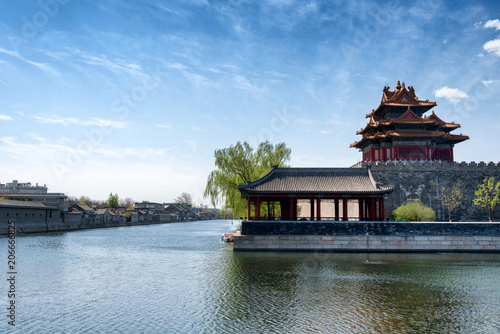 Foto op Plexiglas Peking A corner of the Forbidden City and its surrounding moat in Beijing, China
