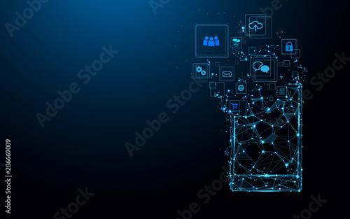 Photo Smartphone with app icons