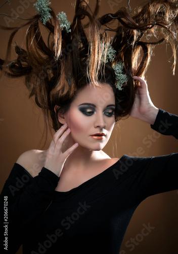 Kreative Frisur Haare Headpiece Kopfschmuck Avantgarde