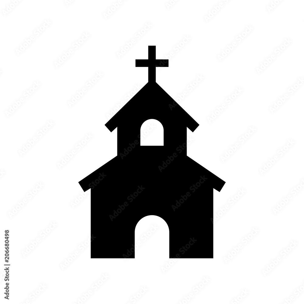 Fototapety, obrazy: church icon house icon