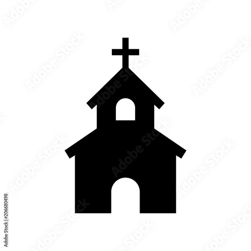 Tablou Canvas church icon house icon