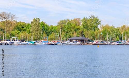 Staande foto Rotterdam Boats At Kralingse Plas, Rotterdam