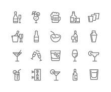 Simple Set Of Alcohol Related ...
