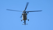 Helicopter Stationary In Flight