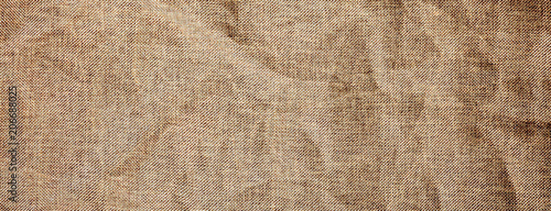 Texture detailed background jute burlap fabric crumpled