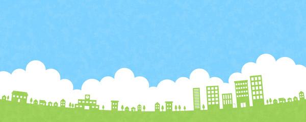 住宅街と空