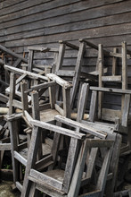 Broken Vintage Wooden Chairs I...