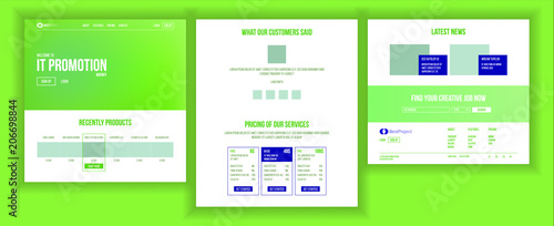 Website Page Vector Fototapet