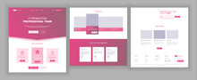 Website Template Vector. Page Business Interface. Landing Web Page. Responsive Ux Design. Opportunity Form. People Environment. Creativity Construction. Illustration