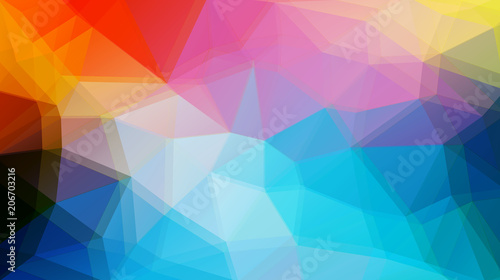 Flat triangle vector background